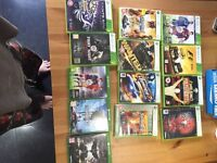Selection of Xbox one and Xbox 360 games.