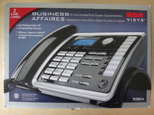 RCA TC25214 2 Line Caller ID Business Corded Telephone