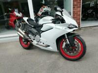DUCATI 959 PANIGALE, RARE PEARL WHITE, LOW MILES, F.S.H AKROPOVIC EXHAUST