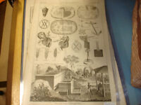 18TH CENTURY ANTIQUE ENGRAVINGS, VARIOUS SUBJECTS, LARGE