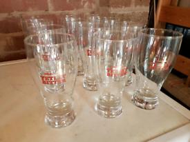 440ml Beer Glasses (Tetley's Bitter) x12