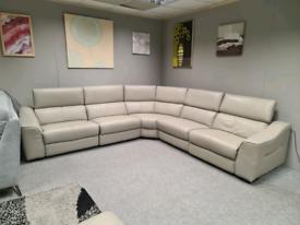 Brand new Genuine Leather corner sofa 3 power recliner