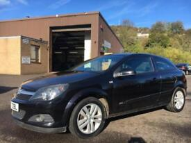 0707 Vauxhall Astra 1.6 16v 115ps Sport Hatch SXi Black 3 Door 62890mls MOT 12m