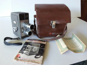 vintage DeJur Eldorado 8mm movie camera with case and instructio