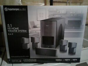 New Kamron Audio 5.1 HD Home Theater System 1500 Watts