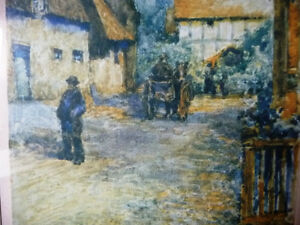 """Street Scene Lithograph by Rhys Jenkins """"Bunyans Cottage Elstow"""" Stratford Kitchener Area image 4"""