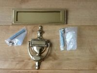 Solid Brass Georgian Style Letter Box & Door Knocker