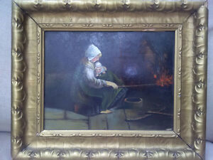 Mother by the Fire by C. A. Blinn Kitchener / Waterloo Kitchener Area image 2