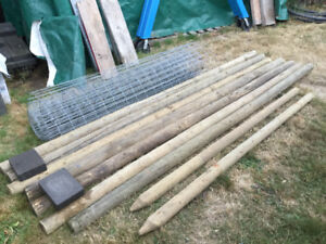 Fencing Material 6Ft General Purpose Wire & 10Ft Posts