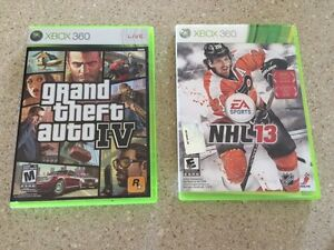 XBox 360 Grand Theft Auto IV and NHL 13