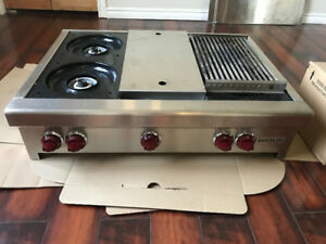"Wolf 36"" Gas Range with Center Griddle"