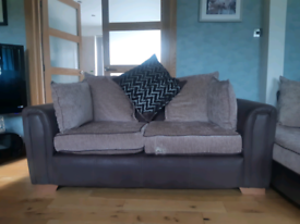 DFS 2 seater and cuddle couch