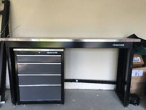 Husky bench and drawers