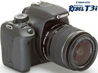 Canon EOS Rebel T3i 18.0MP Digital SLR Camera with EF-S 18-55mm