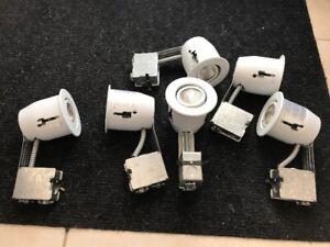 Lot de 6 lumières de 4 pouces encastrées blanc