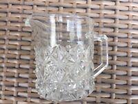 Vintage Small Glass Milk Jug