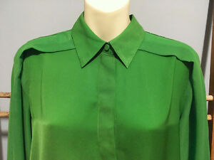 3.1 PHILLIP LIM x TARGET Kelly Green Chiffon BLOUSE Top, Sixe S London Ontario image 5