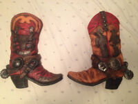 REDUCED! Decorative Clay Cowboy Boots