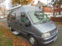 Citroen Jumper campervan motorhome for sale 2 berth 2 sofa at rear