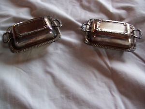silver plated butter dishes