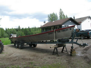 36 Ft Old Style Aluminum Freighter Riverboat - 90hp