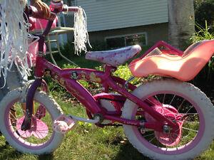 Vélo de princesses pour fille - 14 pouces