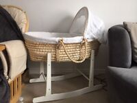 Moses basket and 2x stands