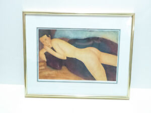 """""""RECLINING NUDE FROM THE BACK"""" BY MODIGLIANI FRAMED WALL PICTURE"""
