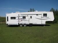 2005 Open Road 37' Fifth Wheel Trailer with optional 2002 Dodge