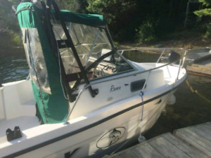 2001 18 foot bayliner trophy fishing boat