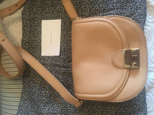 Loeffler Randall mini leather saddle bag