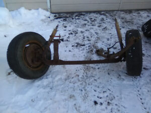 61 Ford F100 front axles and springs complete/ trailer axle
