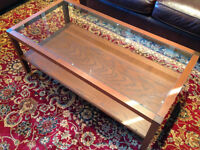 Glass Top Coffee & End Tables Set