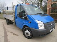 FORD TRANSIT DROP SIDE TAIL LIFT EXTENDED FRAME 2.2 TDCI 125 BHP T350 2012 VGC