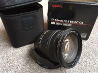 Sigma 17-50mm 2.8 lens