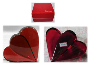 Baccarat Double Heart Crystal Paperweight