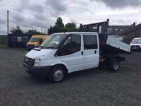 LOW MILES ford transit crew cab tipper 59k miles