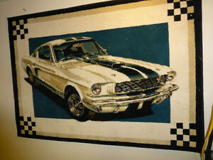 shelby mustang rug
