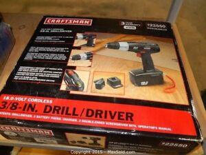 Craftsman 18v cordless drill
