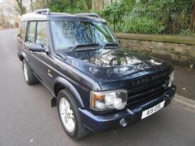 2004 '04' LAND ROVER DISCOVERY 2.5 TD5 ES 7 SEATER MET BLUE 91,000 MILES F,S,H