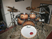 5 Piece Pearl Masters with Sabian HH & HHX Cymbals