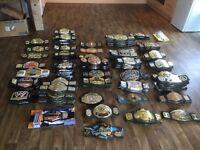 130 plus kids WWE WWF WCW TNA Wrestling belts Jakks Mattel