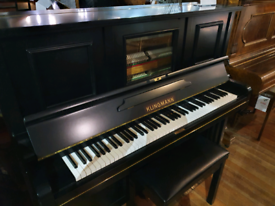 Klingman Upright Piano black restored for sale