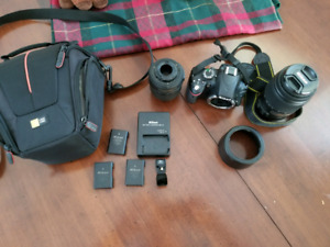 NIKON D3200 + 2 LENSES AND ACCESSORIES