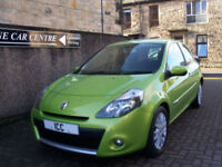 11 11 RENAULT CLIO 1.2 16V DYNAMIQUE SPORT 3DR ELECTRIC GREEN SATNAV BLUETOOTH