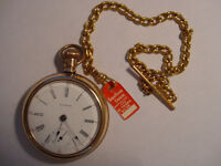 VINTAGE RARE WALTHAM CPR POCKET WATCH WITH CHAIN