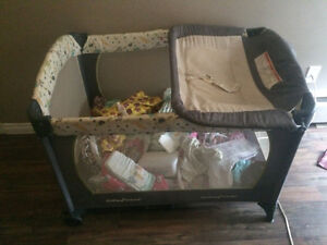 Babytrend playpen and change table.