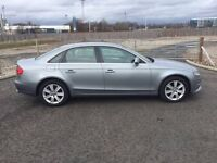 "AUDI A4 2.7 TDI SE MULTITRONIC 4 DOOR SALOON 2008 ""08"" REG 90,000 MILES FSH METALLIC GREY NEW SHAP"