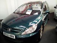 2002 PEUGEOT 307 2.0 SE 16v 7 seats [AC] From GBP1650+Retail package.