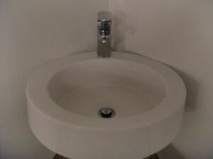 Lavabo vasque 18 pouces avec robinetterie